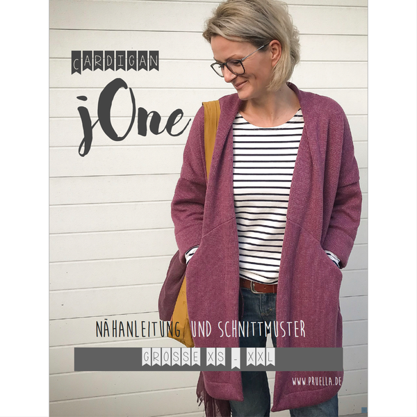 Ebook Cardigan jOne in Gr. XS - XXL