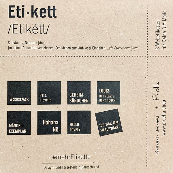 4 x #mehrEtikette 1. Edition - Nice to sew you.