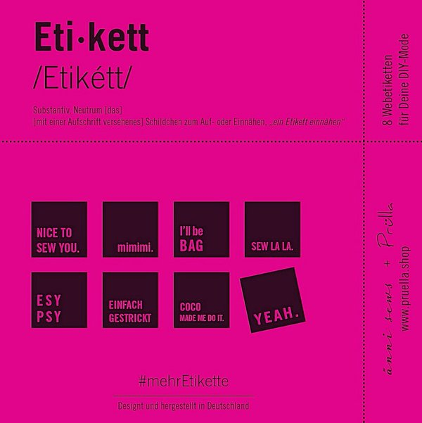 4 x #mehrEtikette 2. Edition - Sew this!