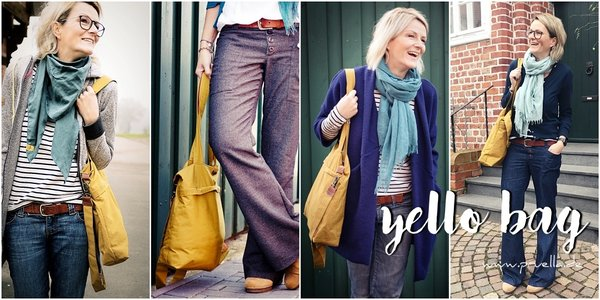 Ebook yello bag - Schultertasche